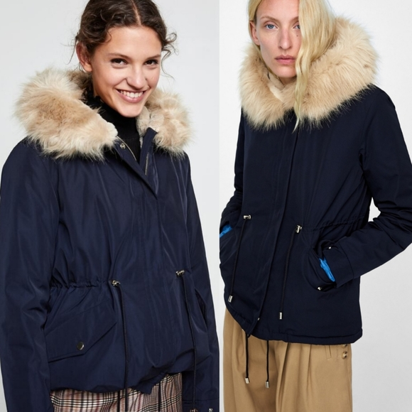 Navy Short Parka
